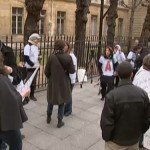 Sur TF1, RTL et BFM TV : La manifestation des femmes de militaires au ministère de la Défense