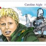 Philatélie : Un timbre poste à l'effigie du commandant Caroline Aigle