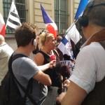 Interview de Laetitia de leader du rassemblement des «femmes de militaires en colère»