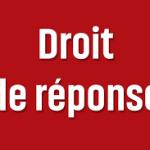 Droit de réponse de Paul MORRA, président de l'AFAR adressé au directeur de l'ESSOR de la Gendarmerie, M. Alain DUMAIT