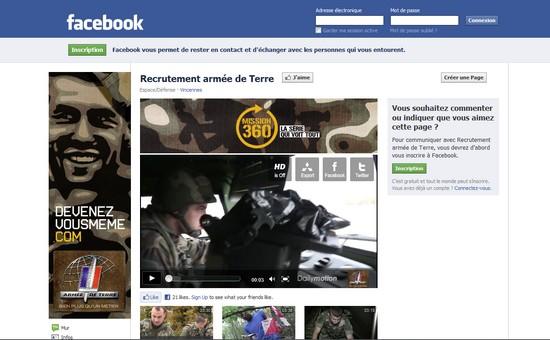 la page facebook de l arm e de terre arm e m dia le journal de l 39 association des forces. Black Bedroom Furniture Sets. Home Design Ideas
