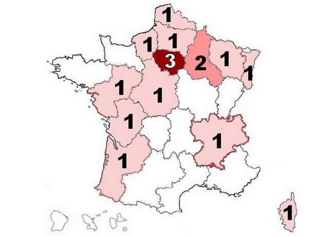 suicides gendarmerie 2013 par région